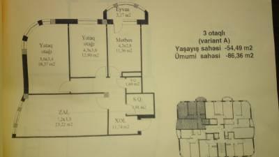 Bakı şəhəri, Abşeron rayonu, Masazır qəsəbəsində, 3 otaqlı yeni tikili satılır (Elan: 166468)