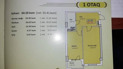 Xırdalan şəhərində, 2 otaqlı yeni tikili satılır (Elan: 154478)