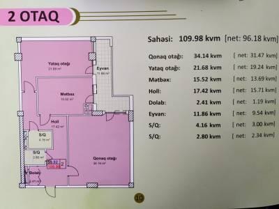Xırdalan şəhərində, 2 otaqlı yeni tikili satılır (Elan: 167188)