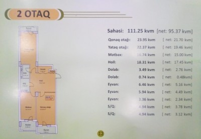 Xırdalan şəhərində, 2 otaqlı yeni tikili satılır (Elan: 108577)