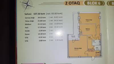 Xırdalan şəhərində, 2 otaqlı yeni tikili satılır (Elan: 158166)