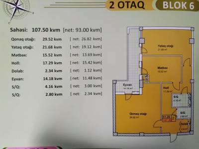 Xırdalan şəhərində, 2 otaqlı yeni tikili satılır (Elan: 154131)
