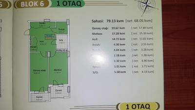 Xırdalan şəhərində, 1 otaqlı yeni tikili satılır (Elan: 157740)