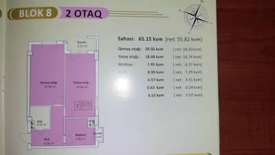 Xırdalan şəhərində, 2 otaqlı yeni tikili satılır (Elan: 158019)