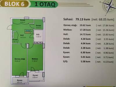 Xırdalan şəhərində, 1 otaqlı yeni tikili satılır (Elan: 166823)
