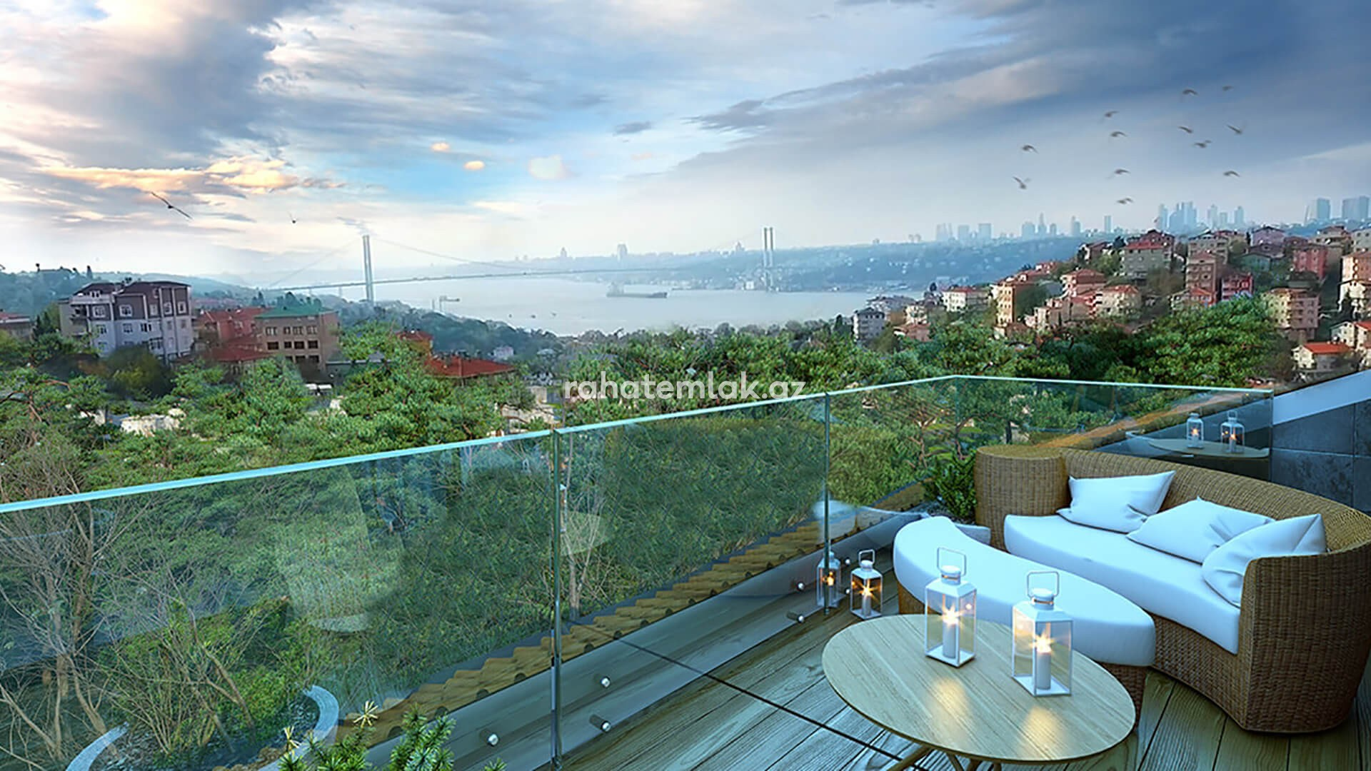 Incredible Bosphorous views from boutique compound in Üsküdar