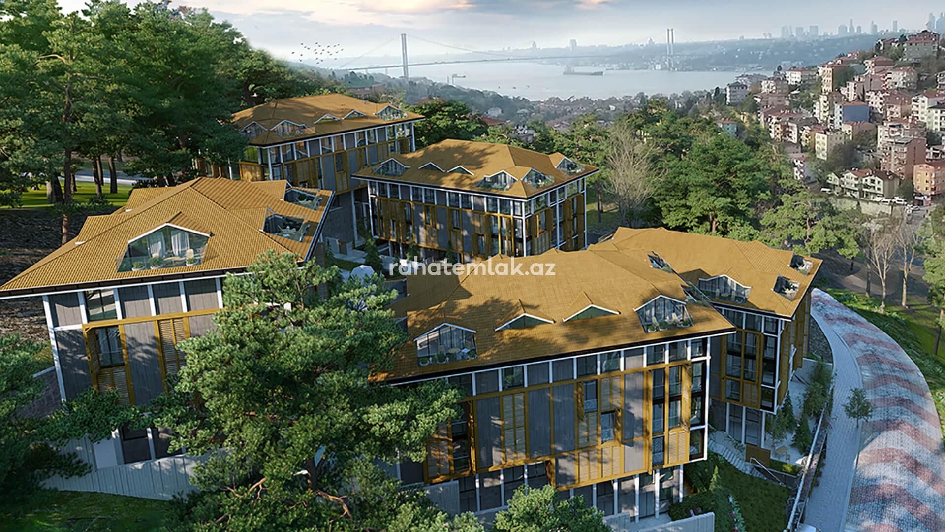 Üsküdarda yerləşən butik tipli kompleksdən möhtəşəm Boğaziçi mənzərəli rezidensiyalar
