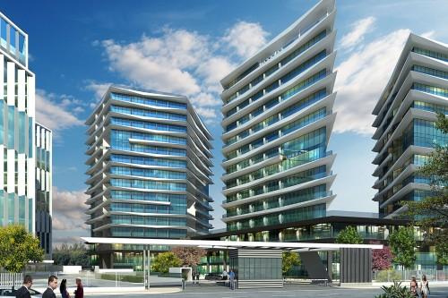 Media Magistral yolunda yerləşən yeni çəkilmiş metro xəttindən bir neçə metrlik məsafədə Böyük Layihə